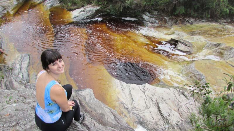 Rio de Salto no Circuito das Águas em Ibitipoca