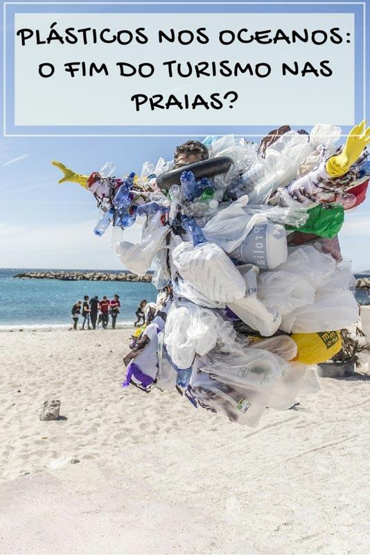 Infelizmente por causa dos plásticos nos oceanos o futuro das praias pode estar em risco.