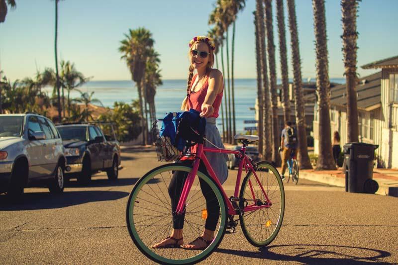 Viajar verde e ser um viajante ecologico andando de bike