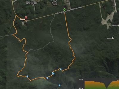 Mapa da Trilha da Ferradura Paranapiacaba SP