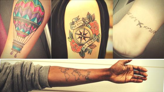 Veja esses 14 estilos de tatuagens de viagem para quem ama viajar!