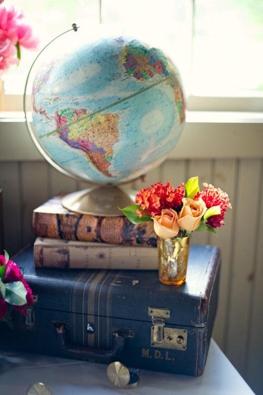 Decoração para viajantes: globo terrestre