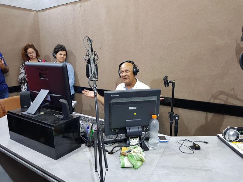 Participação no rádio Bofete