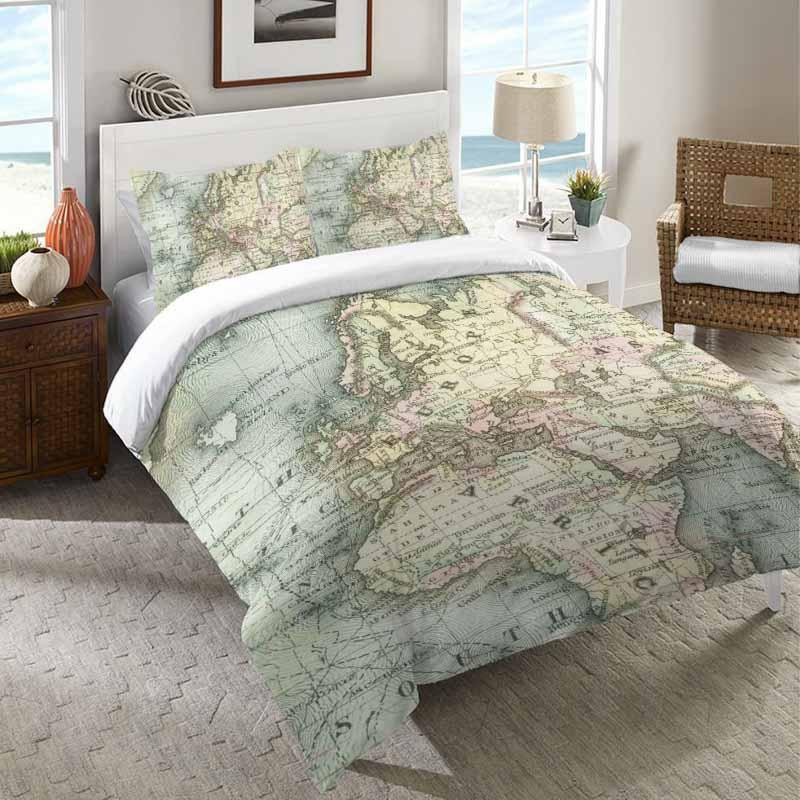 Decoração de viagem: roupa de cama