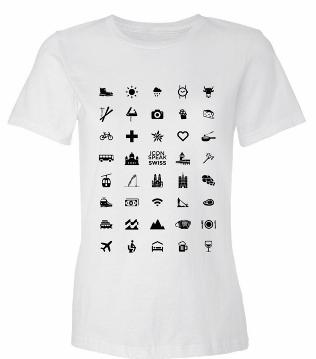 viajar sem falar inglês com camiseta de ícone