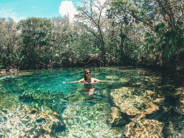 cenote caleta tankah tulum beach club