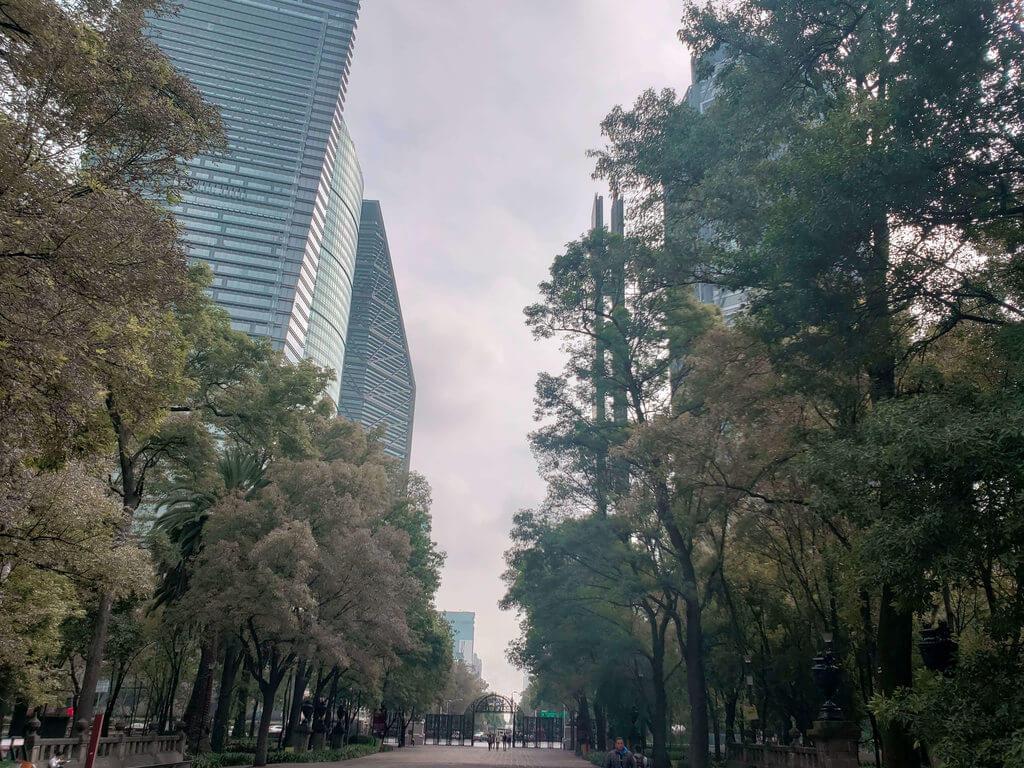 Entrada do Bosque de Chapultepec na Cidade do México