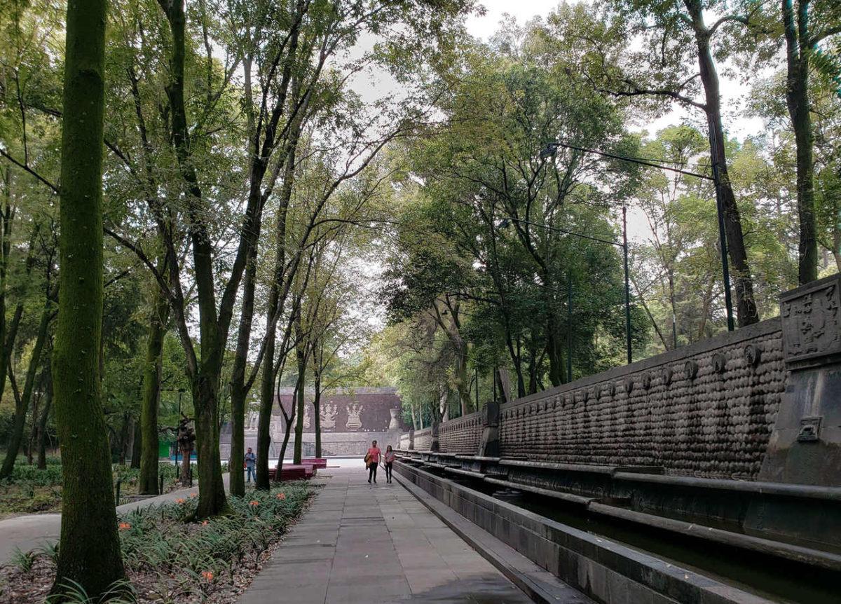 Monumento presente no bosque de Chapultepec na Cidade do México