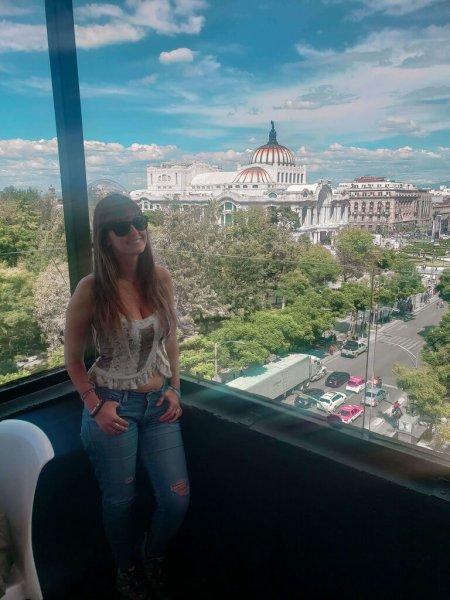 vista do bar Terraza para o Palacio de Bellas Artes