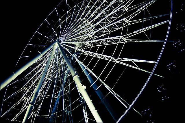 roda gigante vista de baixo