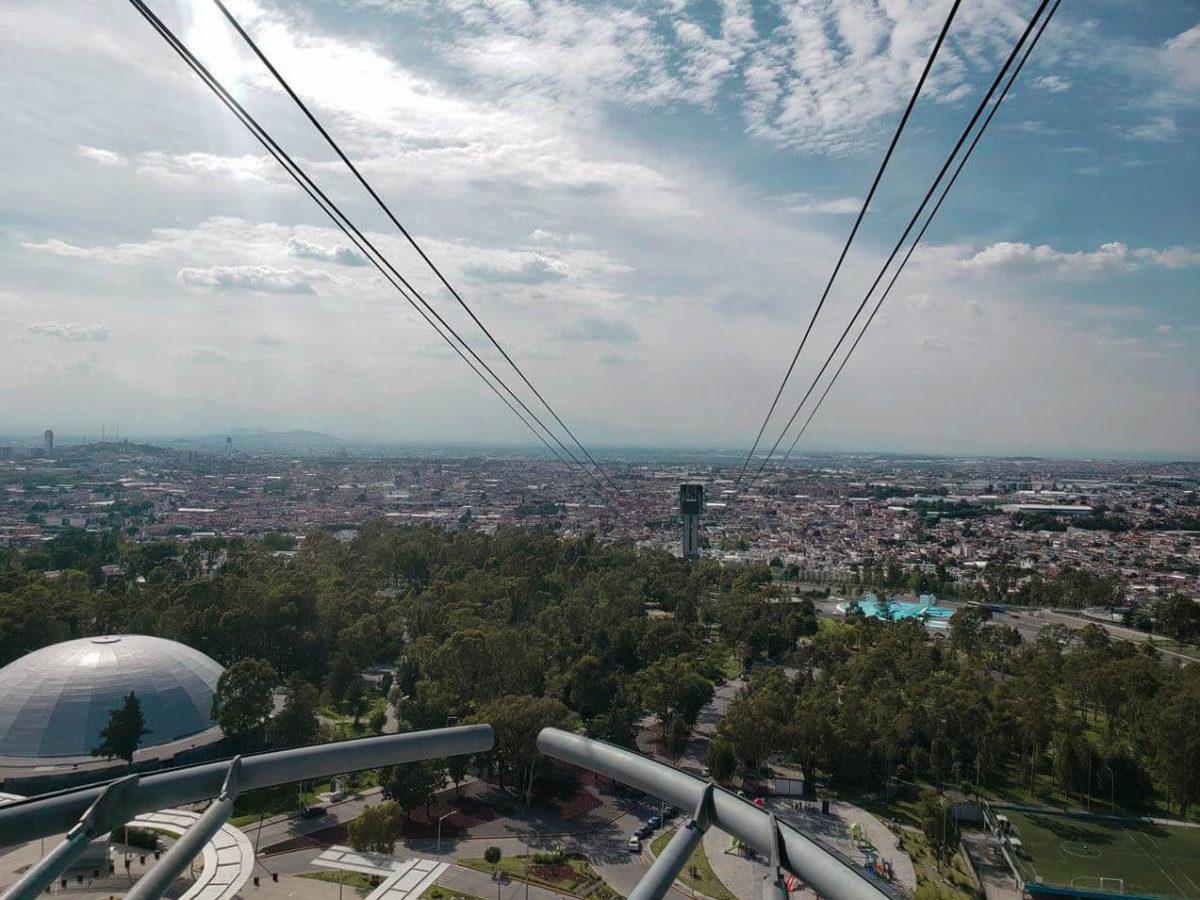 vista da cidade pelo teleférico de Puebla México