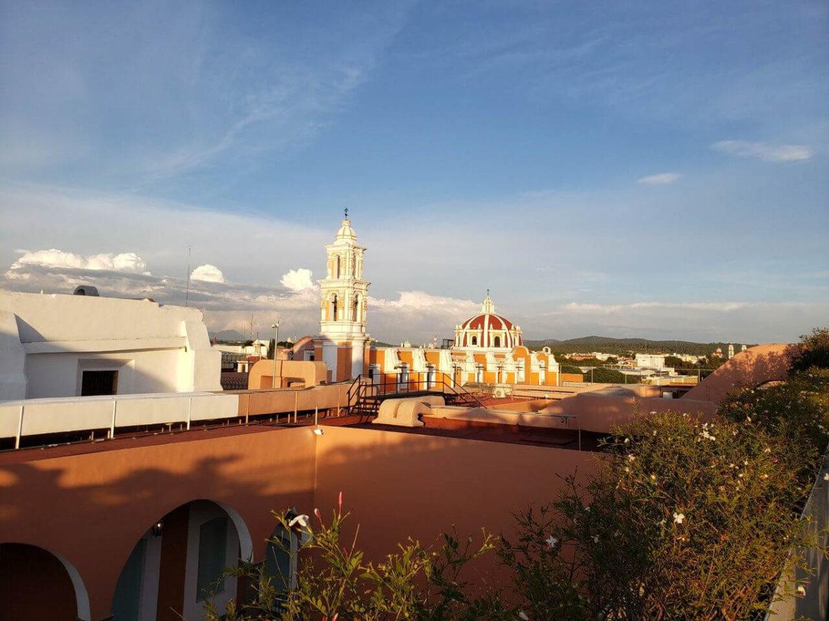 vista da cidade de Puebla do terraço do Museu Amparo