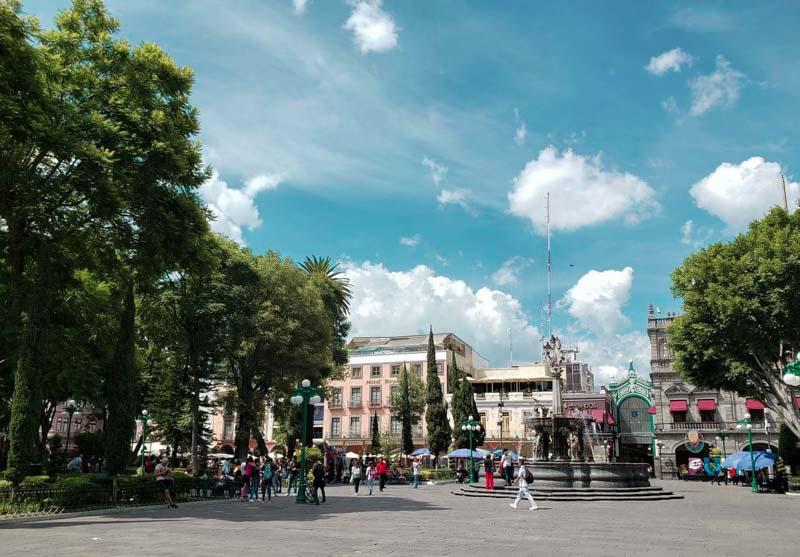 Zócalo praça principal de Puebla