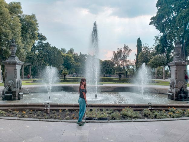 fonte de água na Cidade do México