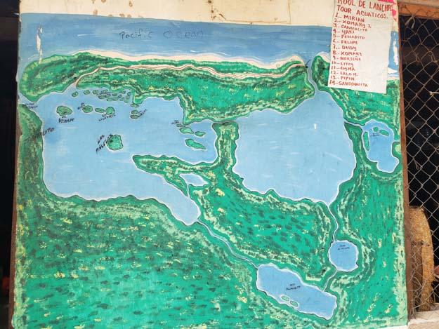 mapa do parque nacional lagunas de chacahua