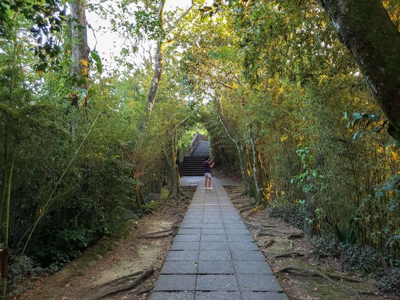 caminho para chegar no Mirante Dona Marta