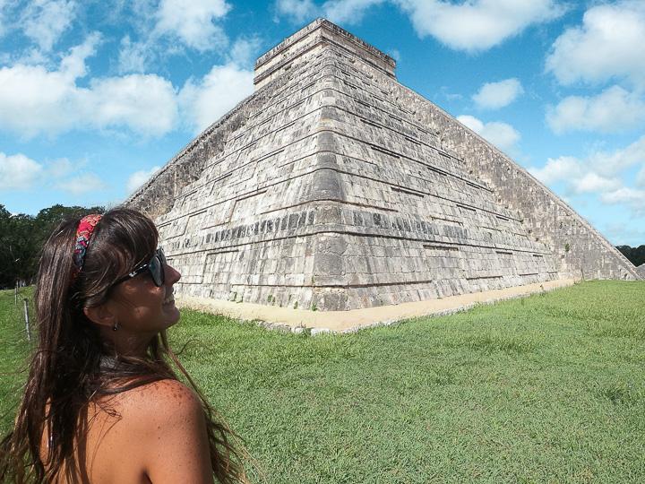 Principal Pirâmide de Chichén Itzá, uma das Sete Maravilhas do Mundo