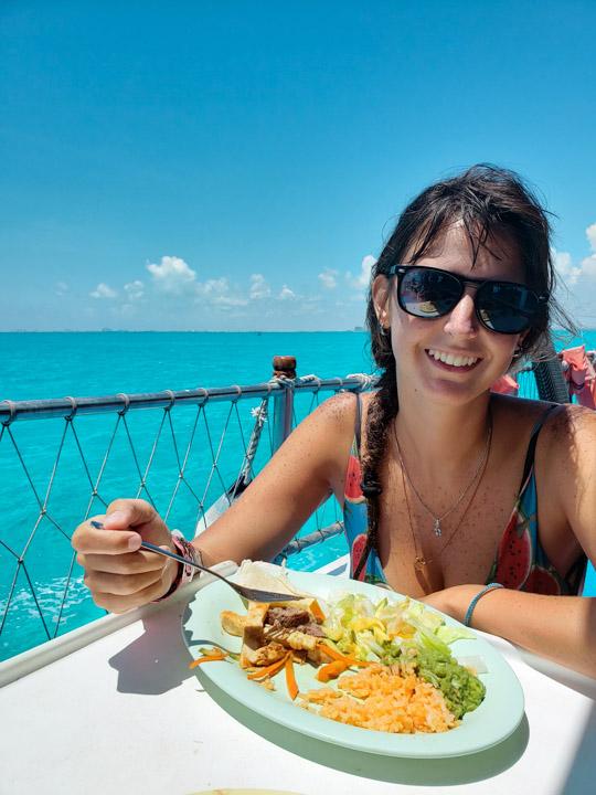 Almoço do Dancer Cruise em Cancun