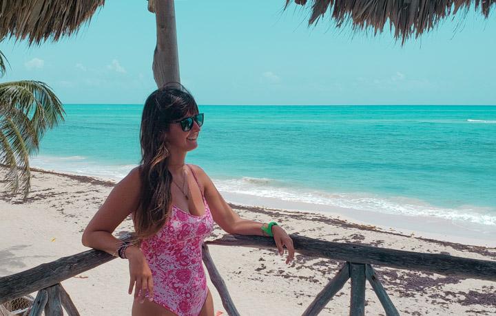 Casinha de madeira na Isla Blanca Cancun