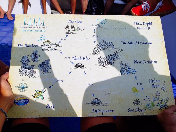 Mapa do Museu Subaquático de Cancun