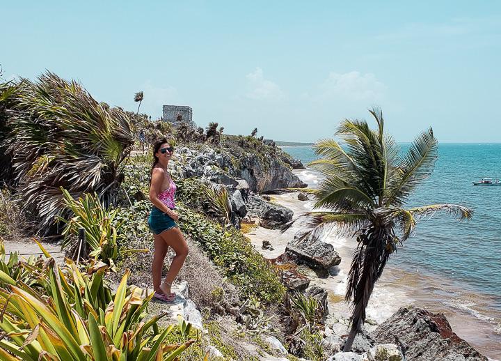 Única ruína maia a beira-mar fica em Tulum México