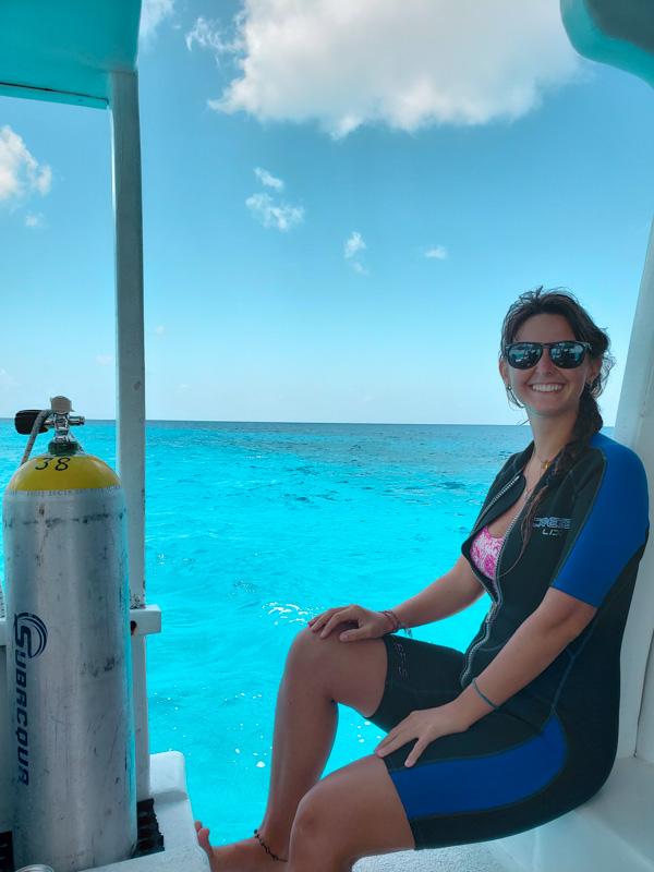 Barco de mergulho em Cozumel