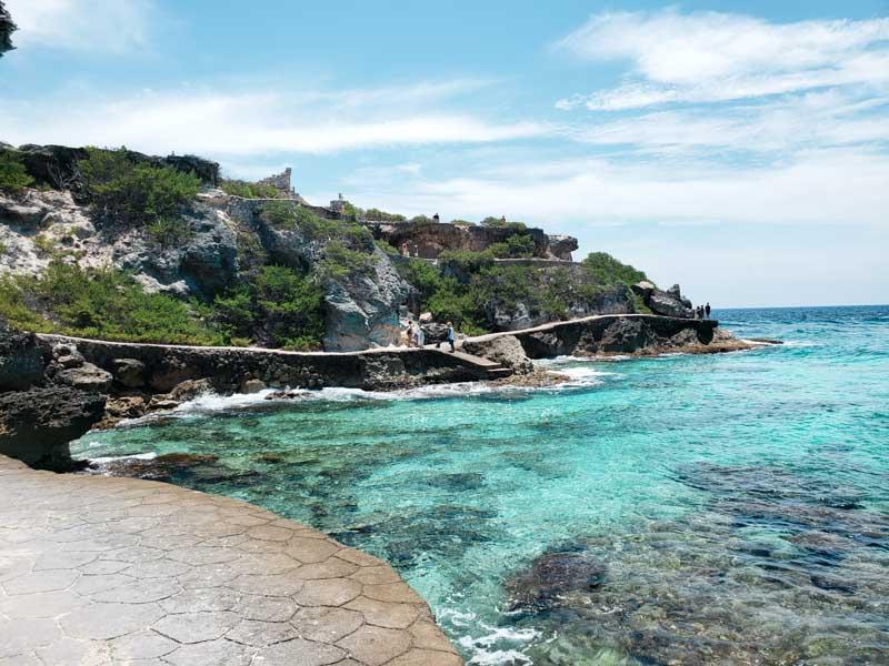 caminho até Punta Sur em Isla Mujeres