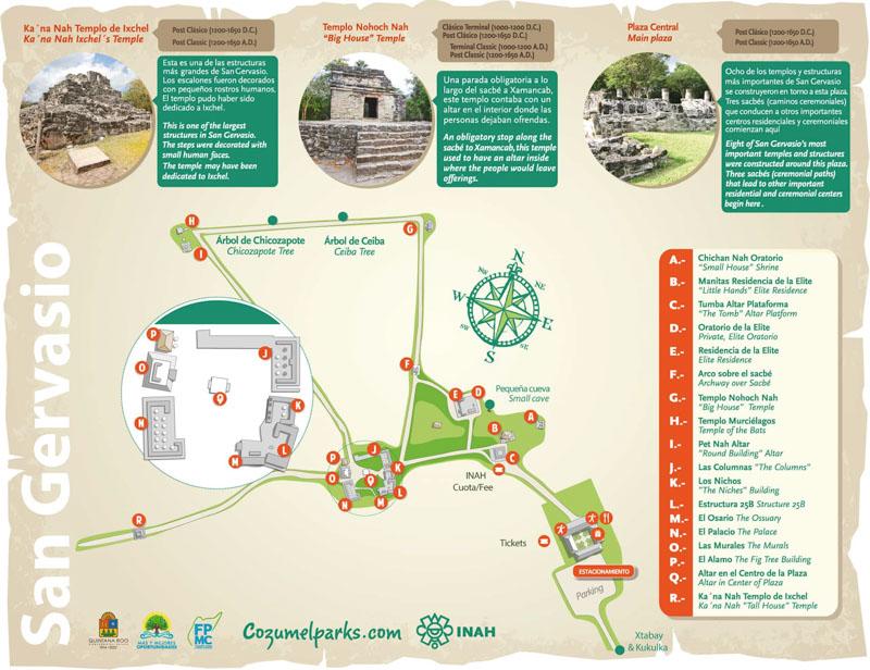 Mapa Parque San Gervasio
