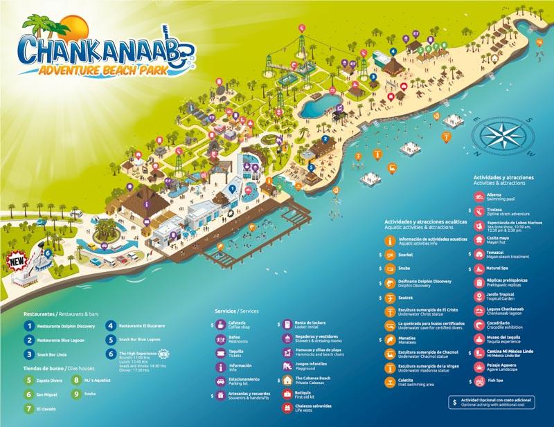 Mapa do Parque Chankannab