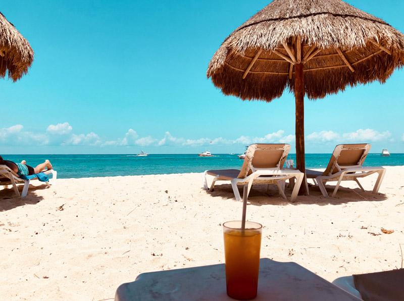 Clube de praia em Cozumel