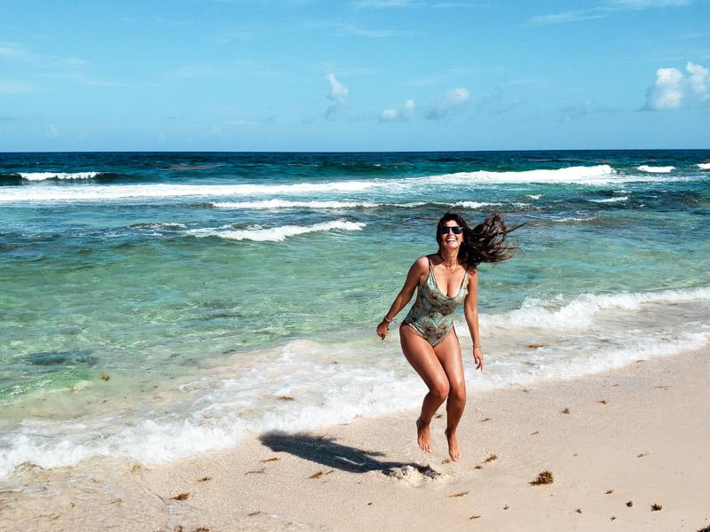 Pulo na Playa San Martin em Cozumel