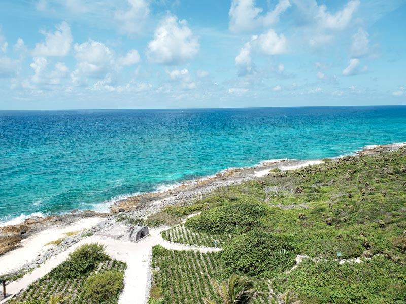 Vista Farol Celarain em Punta Sur Cozumel