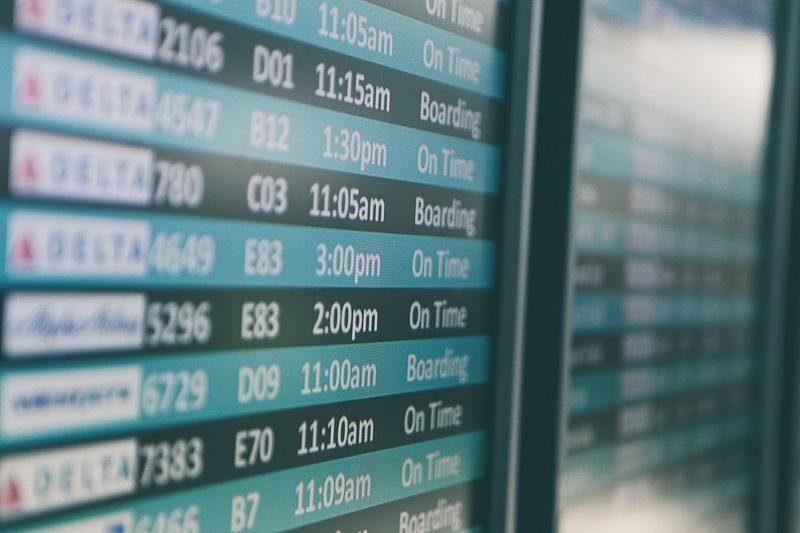 tabela de horários dos voos