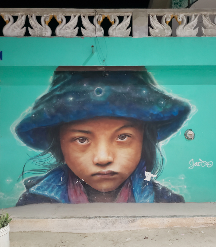 Arte de rua em Holbox no México