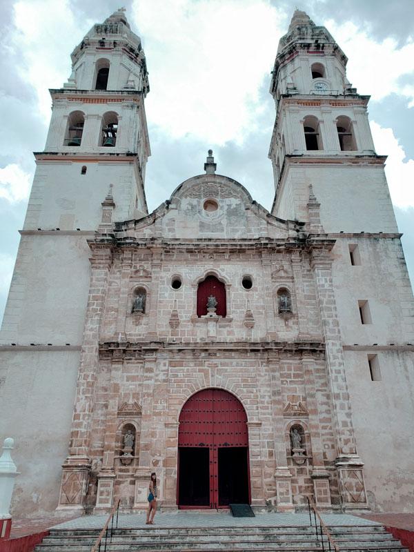 Catedral principal de Campeche México