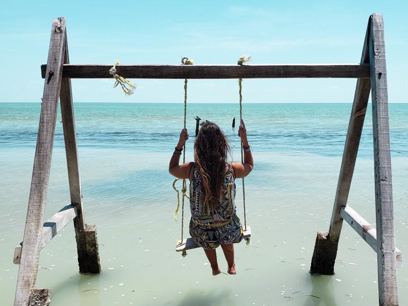 Balanço no pier da Isla Aguada México