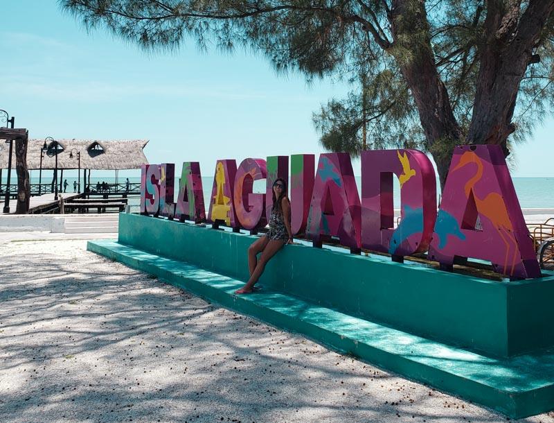 letreiro Isla Aguada México