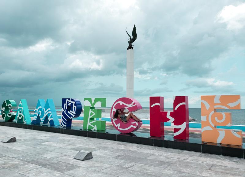 letreiro Campeche México