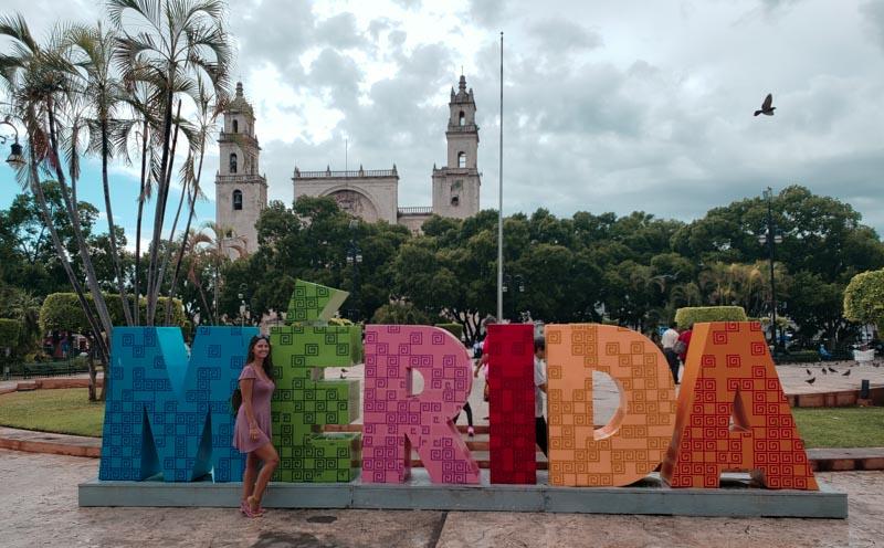 letreiro de Mérida México