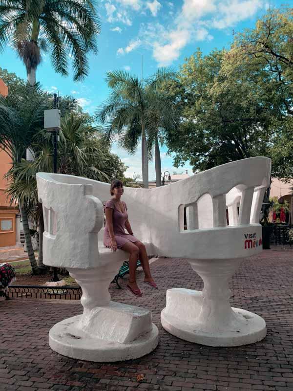 Parque Santa Lucia Merida Mexico