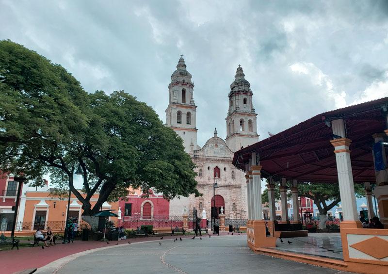 Praça principal de San Francisco de Campeche