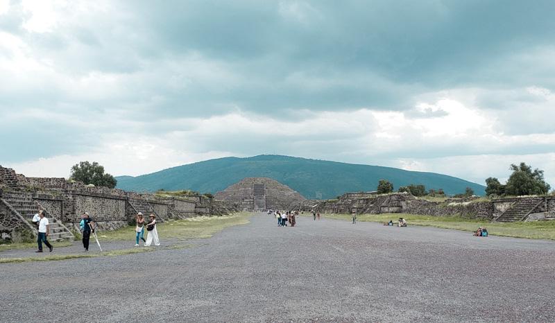Calçada dos Mortos Ruínas Teotihuacan México