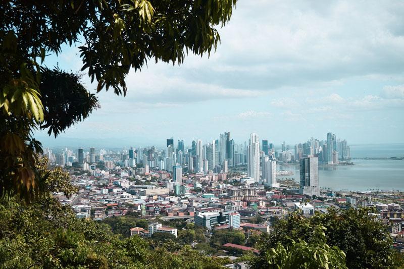 Cidade do Panamá vista de cima