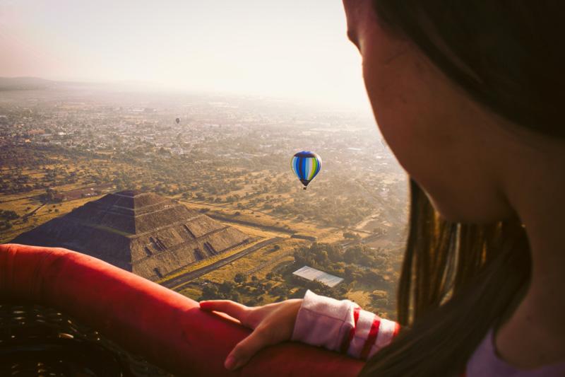 balão Teotihuacan México
