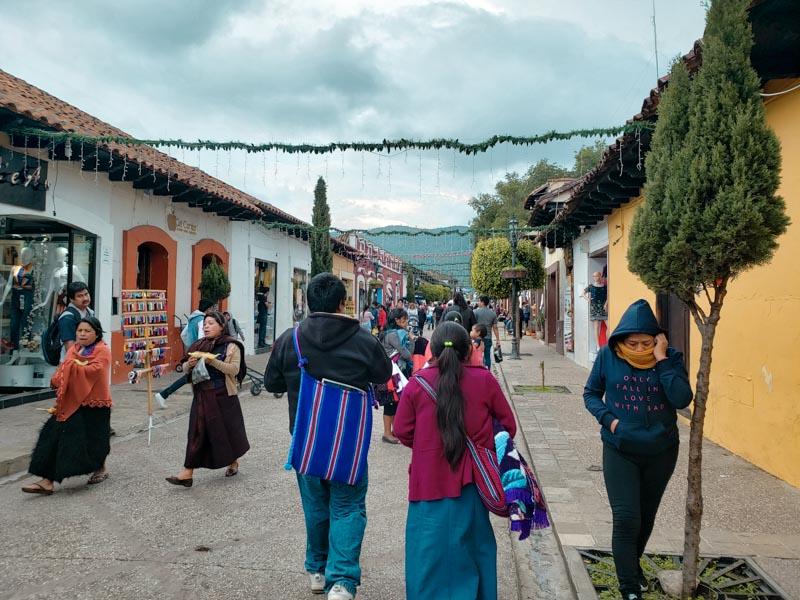 ruas de San Cristóbal de las Casas Chiapas